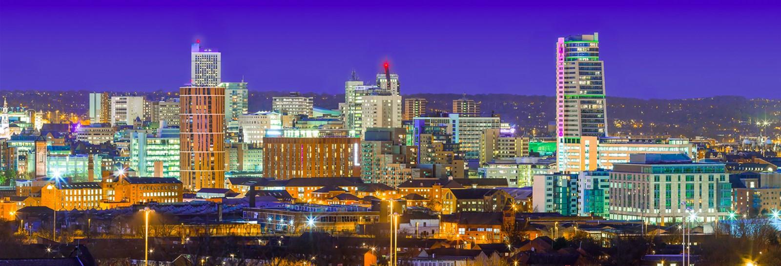 Leeds at night