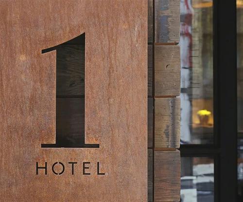 Hotel Architectural Rust Finish
