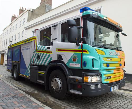 Humberside Fire truck drives into city