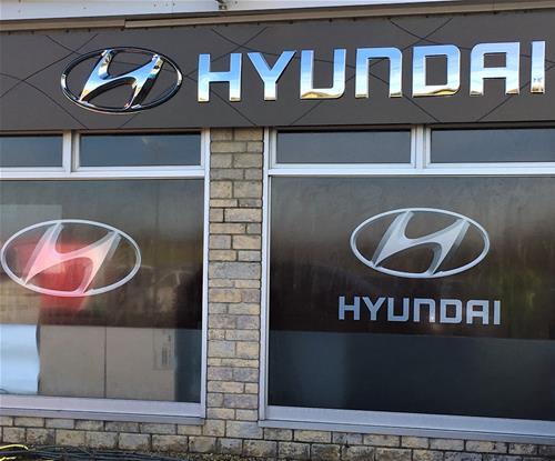 Exterior Fascia Sign & Window Graphics for Hyundai, Bath
