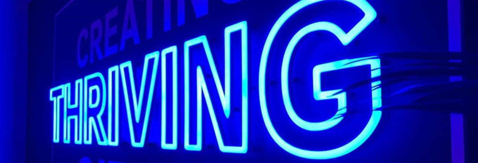 Faux neon illuminated sign in office - Signs Express