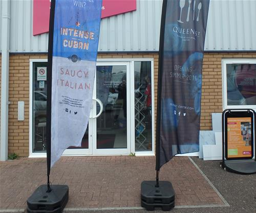 Branded feather flags