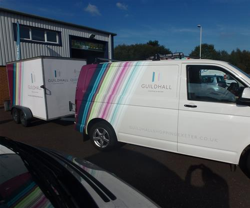 Full colour digital print & partial wrap to van and trailer
