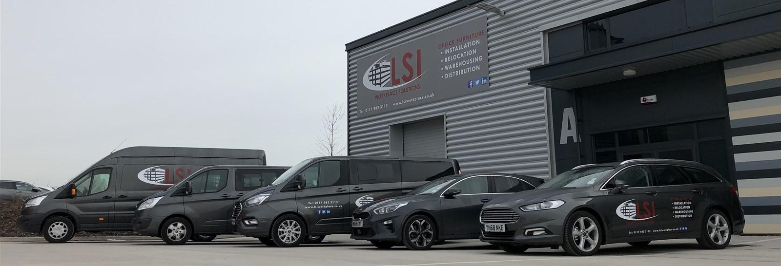 Fascia sign and fleet vehicle graphics