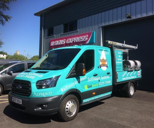 Branding  a Transit Drop Side Van for Alfresco Group