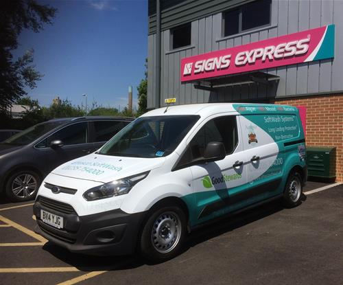 Van graphics from the front