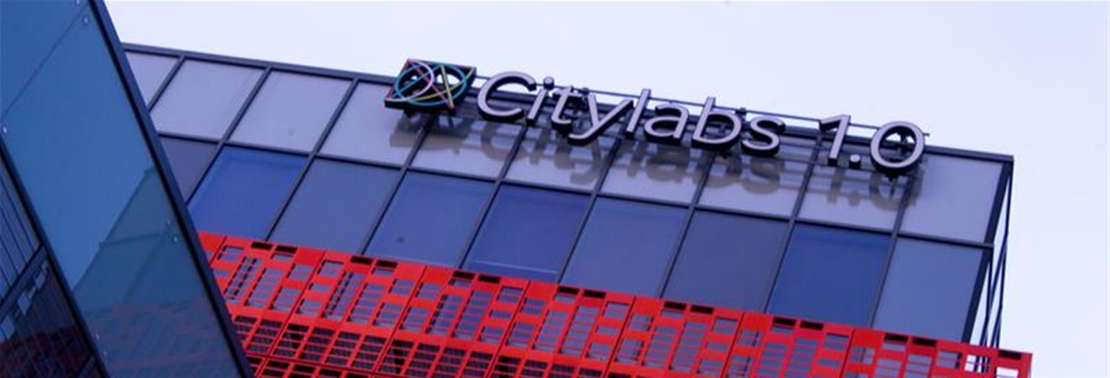 High level illuminated building sign for Manchester Citylabs 1.0