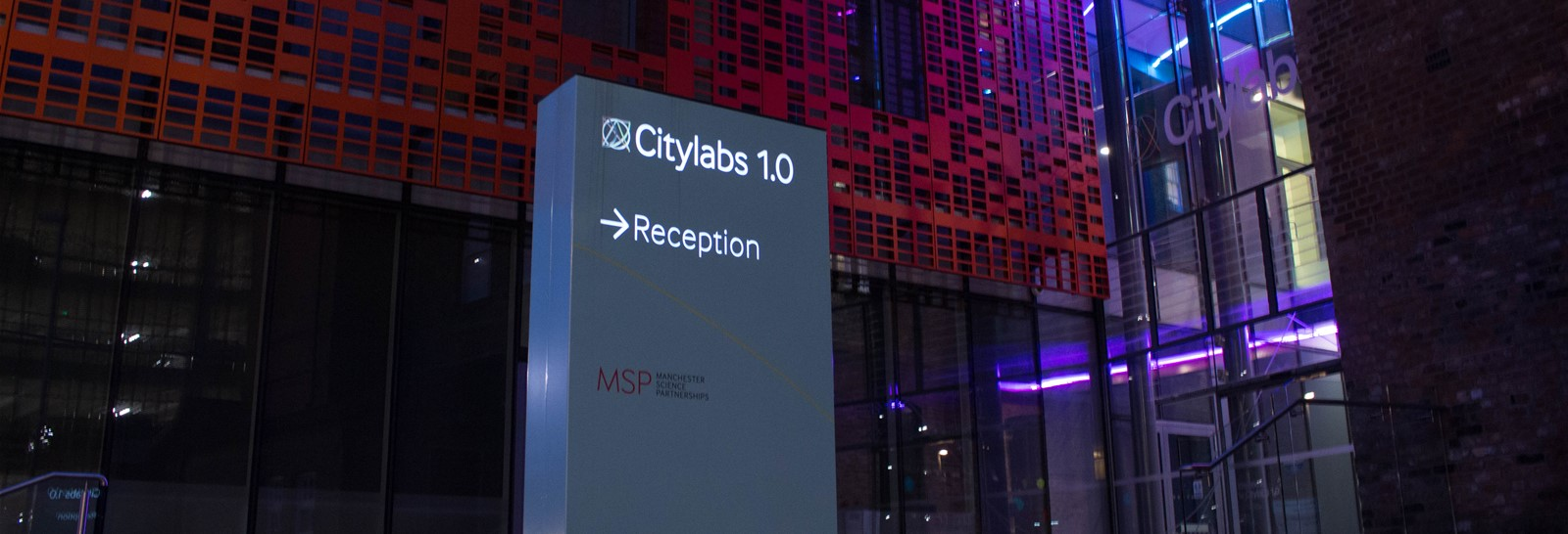City Labs directional sign by Signs Express (Manchester)