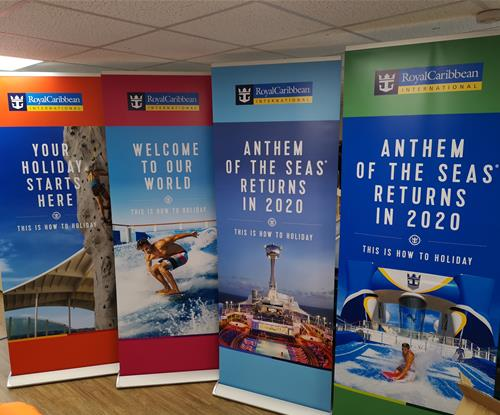 Celebrity Edge Promotional Standing Banners