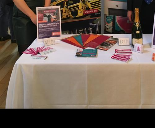 Signs Express (Bath) Stand displaying product information
