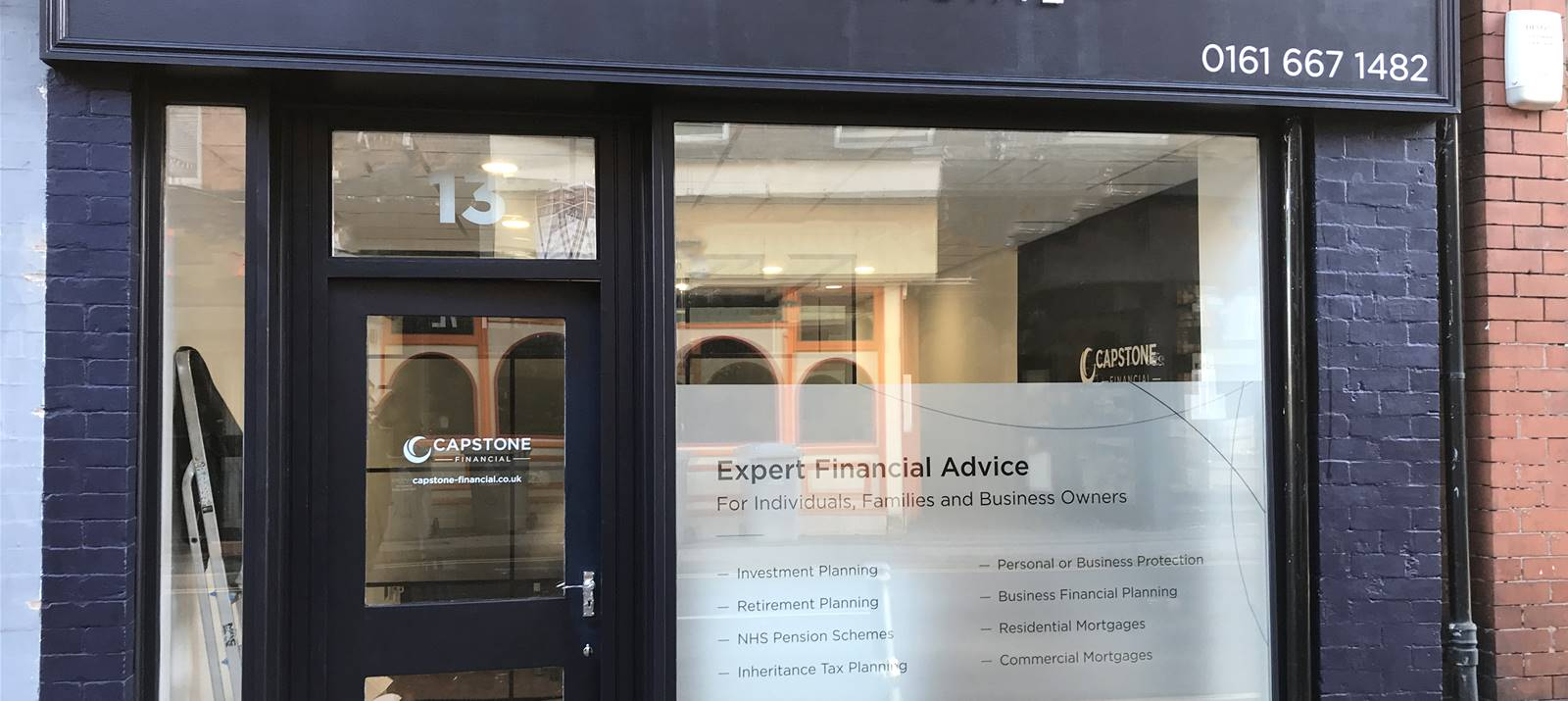 External signage and frosted window vinyl by Signs Express Macclesfield