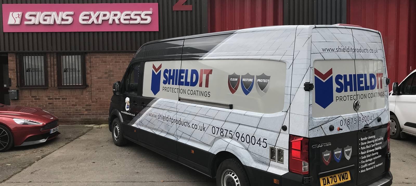 Pro Shield Cheshire, laminated cut vinyl half van wrap