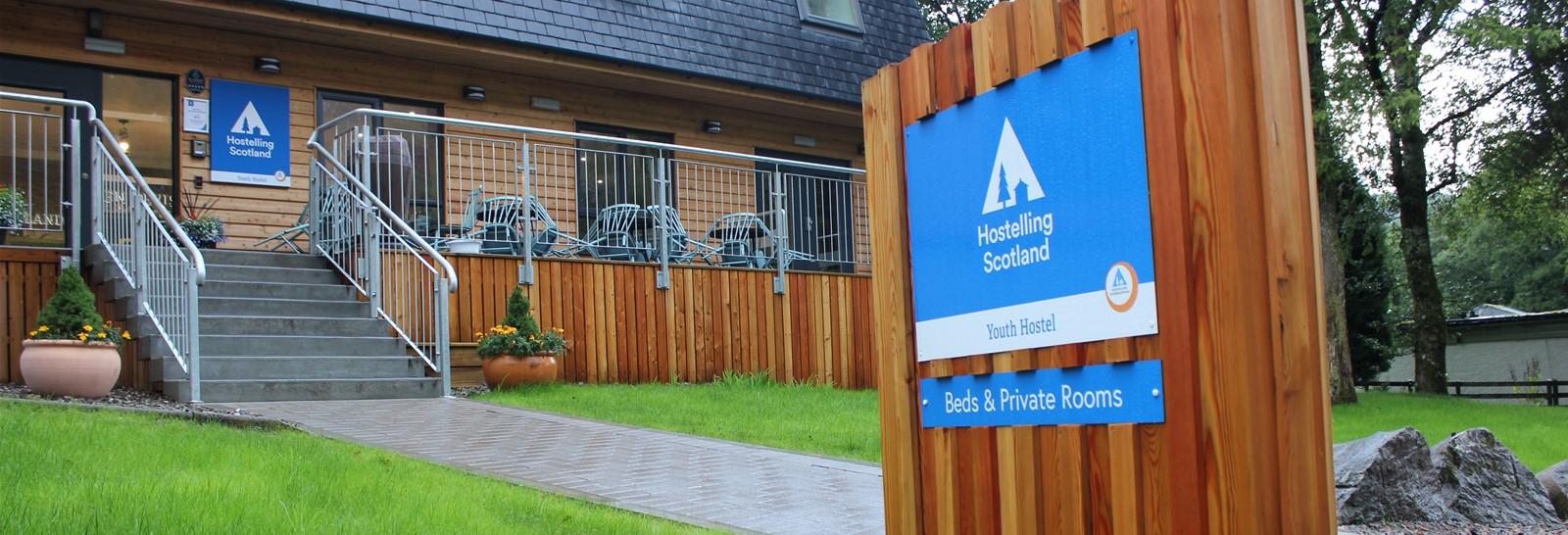 Hostelling Scotland signage