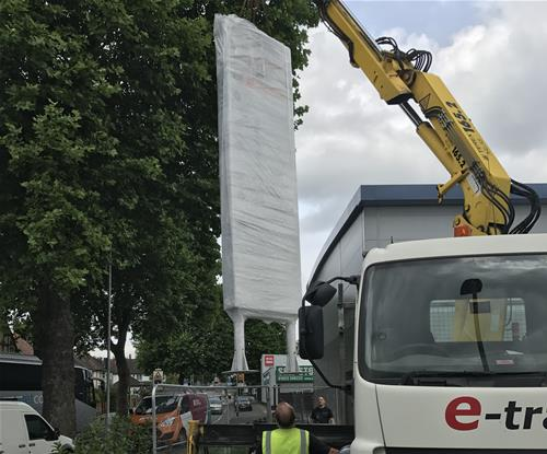 Monolith sign installation in Watford