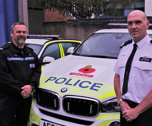 Police officers PC Fairclough and ACC Fullwood