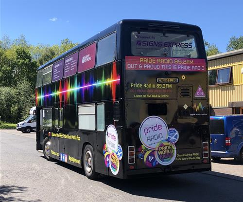 High impact bus graphics