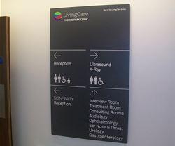Wayfinding signage at LivingCare