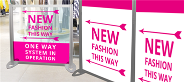 One-way directional signage solutions