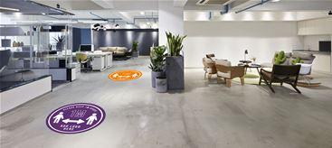 1 metre social distancing floor graphics
