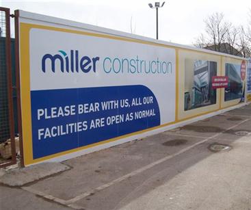 Site Hoarding for Miller Construction
