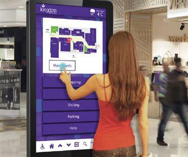 Digital wayfinding signage in retail