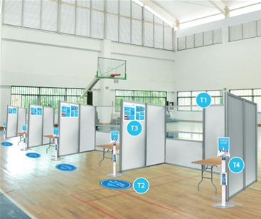 Testing in schools - signage solutions