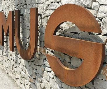 Industrial style corten letters