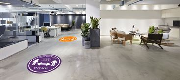 Floor graphics for social distancing