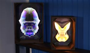 Faux Neon Animal Signs