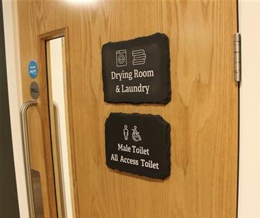 Slate door signs