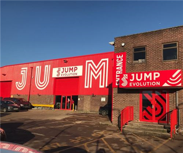 Jump Evolution exterior signage