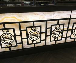 Marble Effect Bar Front