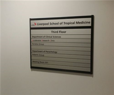 Wayfinding signs were also specified