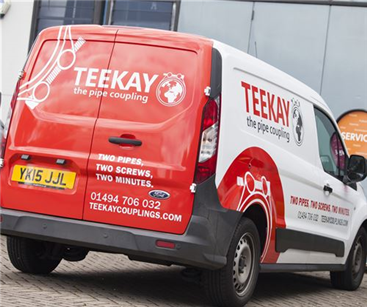 Partial van wrap and vehicle graphics