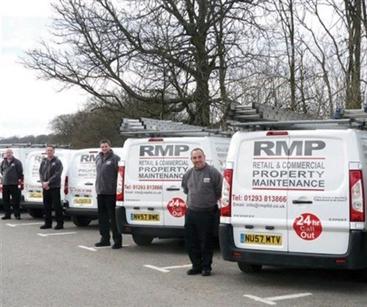 Fleet graphics for RMP Maintenance vans