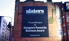 Slaters Large Exterior Promotional Banner