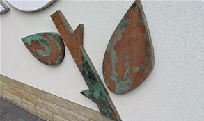 Industrial Copper Exterior Sign