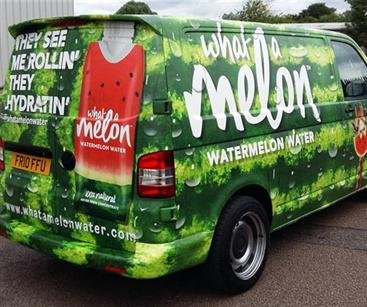 What a Melon vehicle wrap