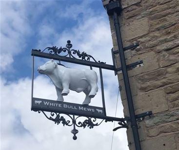 3D printed bull for Lancashire pub external sign