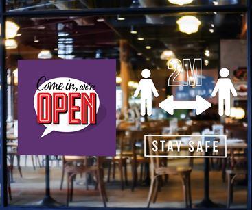 Social Distancing Shop Window Graphic