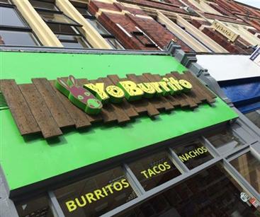 Yo Burrito sign that won the award