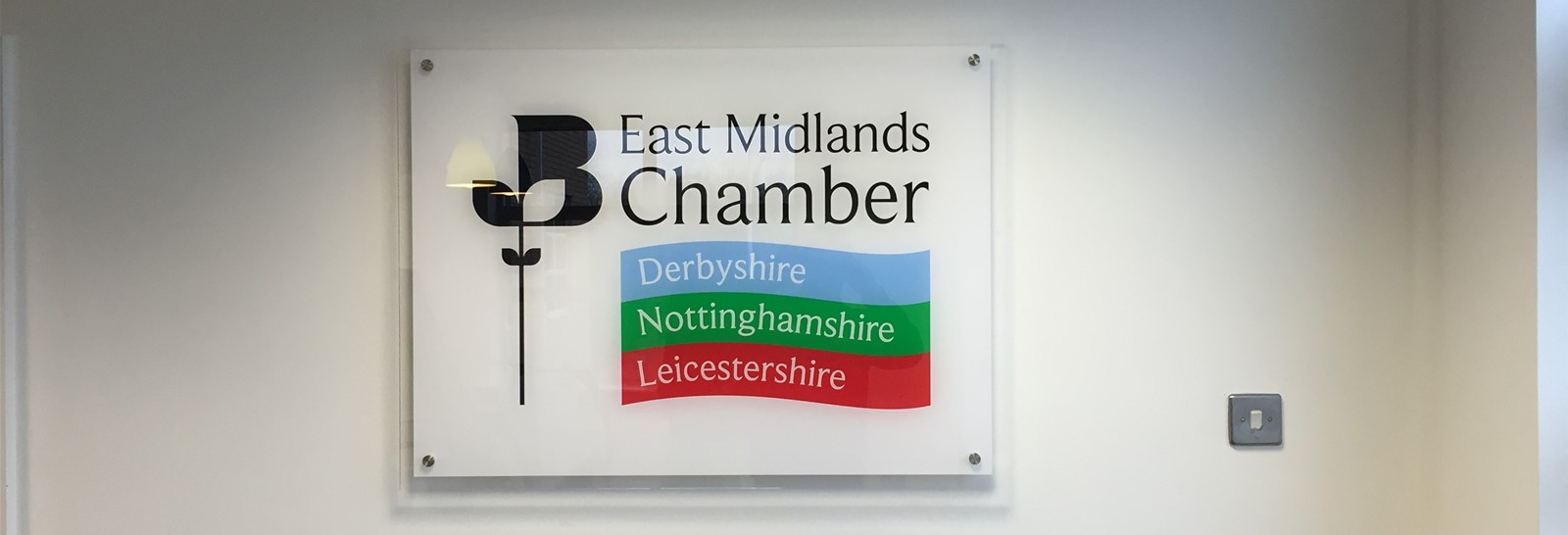 Branding the new building for The East Midlands Chamber of Commerce