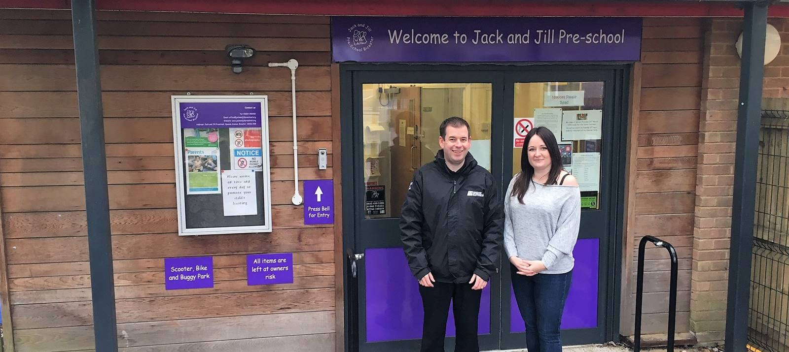 Signs Express working with Jack & Jill pre-school