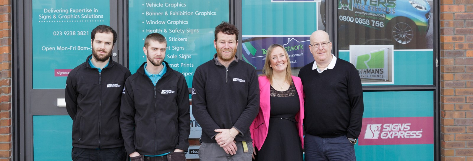 The team at Signs Express (Portsmouth)