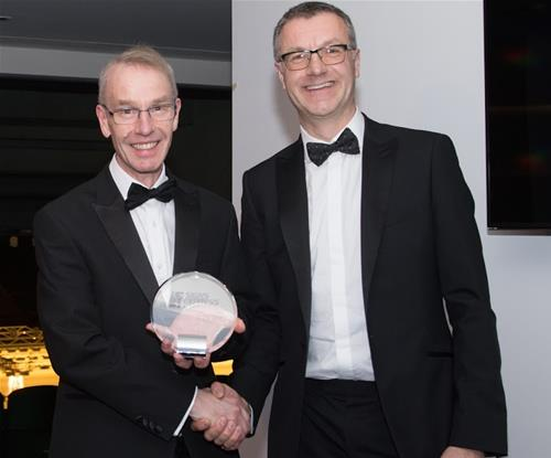 Thomas Somers (Left) presented with Ambassador of the Year Award