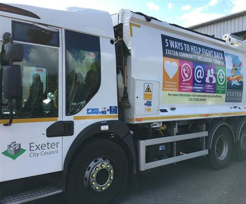Lorry graphics with Coronavirus information