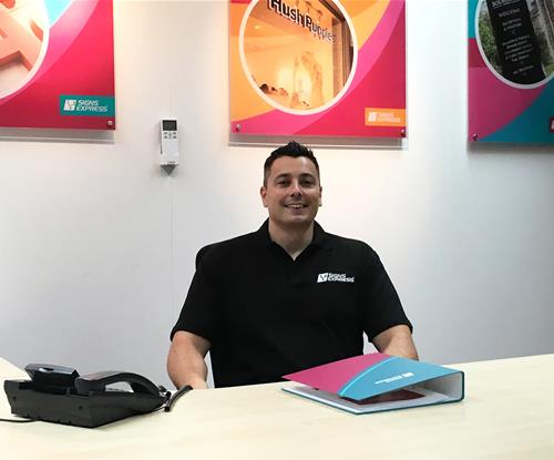 Martin Geddes-Smith, the new owner of Signs Express (Telford)
