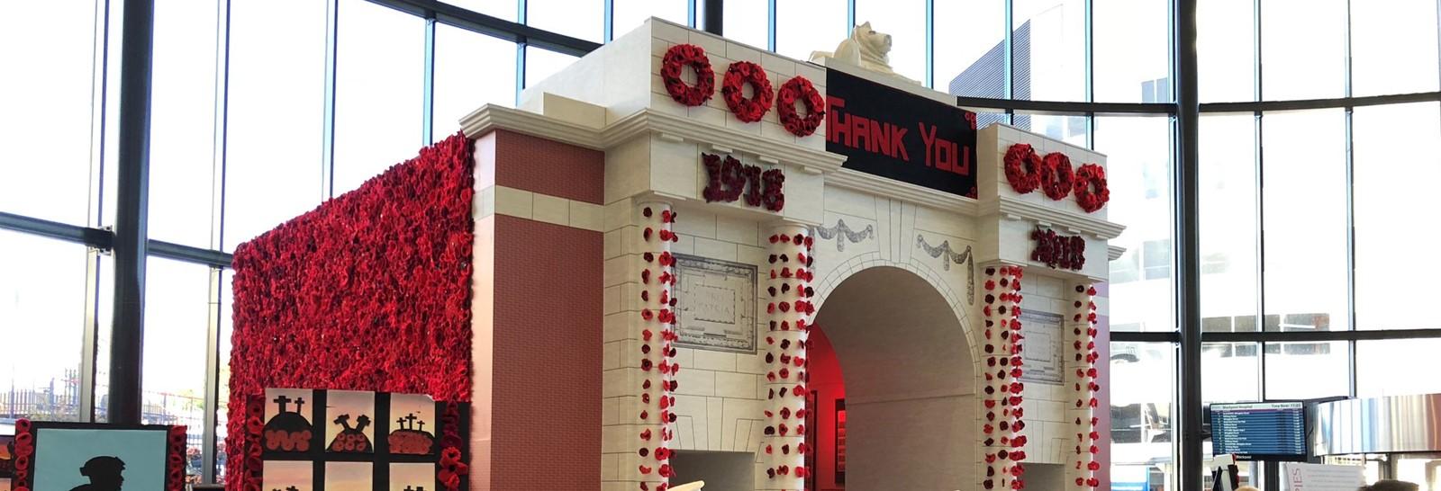 Remembrance Memorial at Blackpool Victoria Hospital