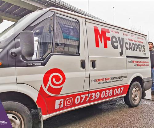 Van Wrap for MFey Carpets
