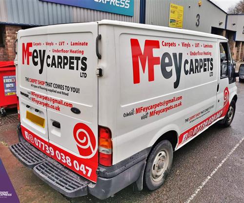 Vehicle Wrapping - MFey Carpets Bristol